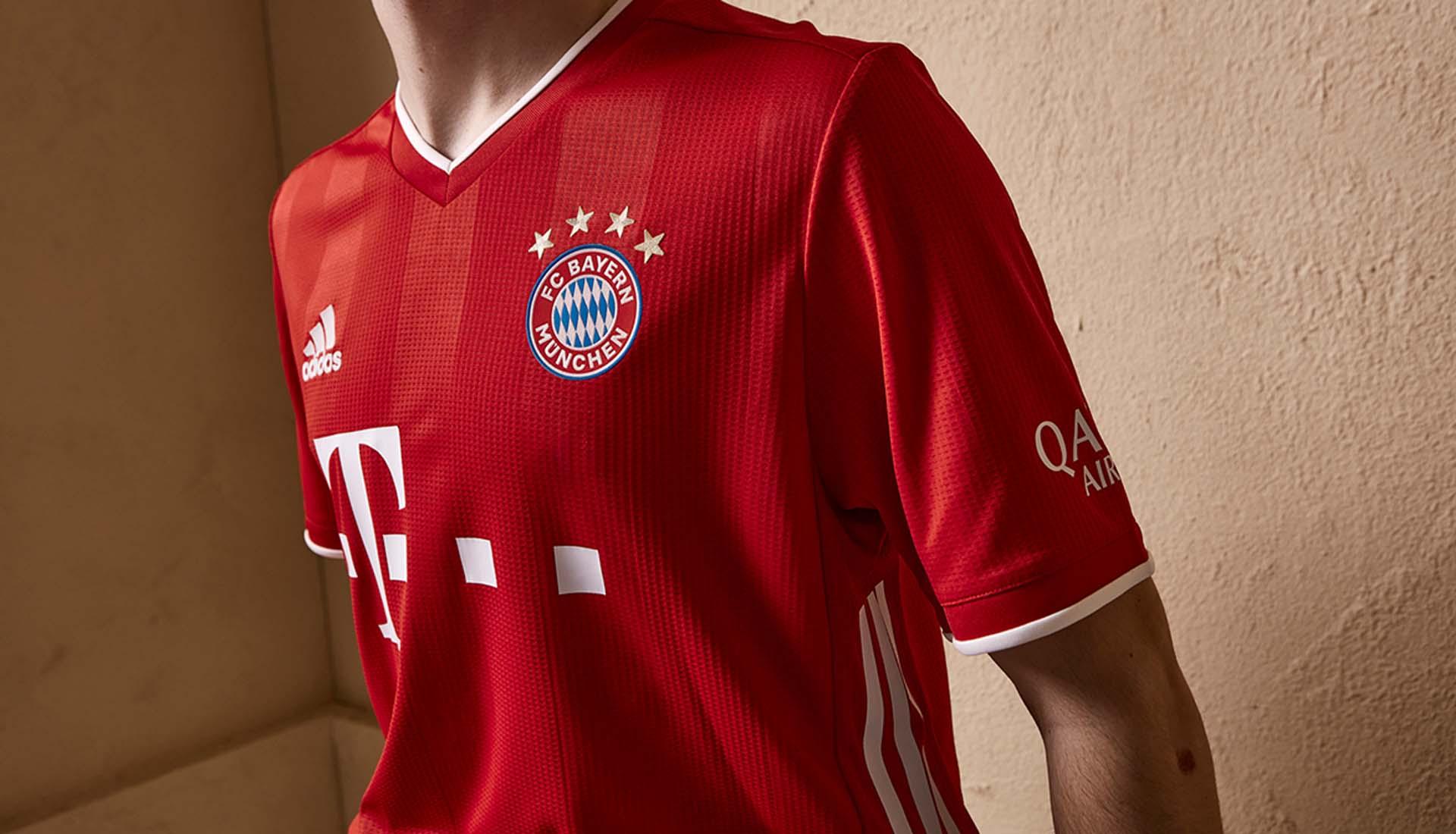 details maillot domicile Bayern 2020-2021