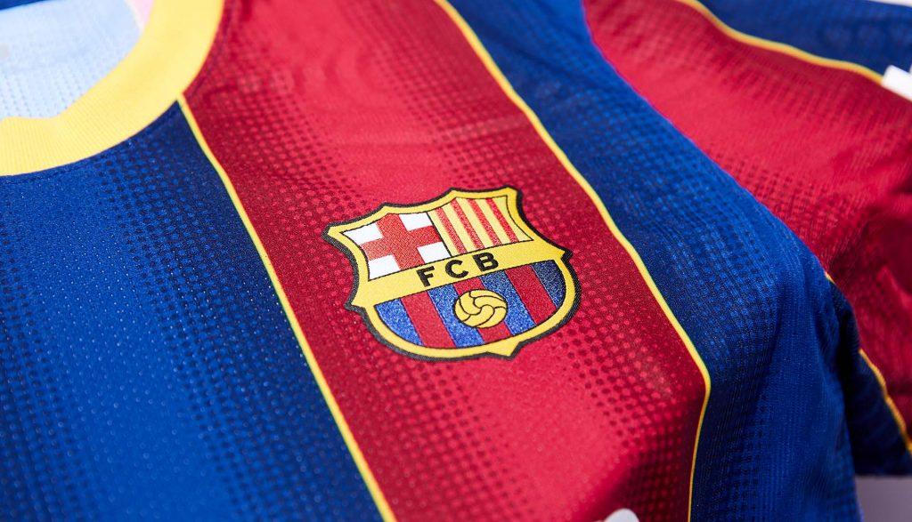détails maillot domicile barcelone 2021