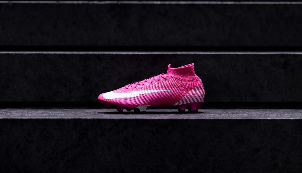 chaussures nike mercurial superfly mbappe rosa