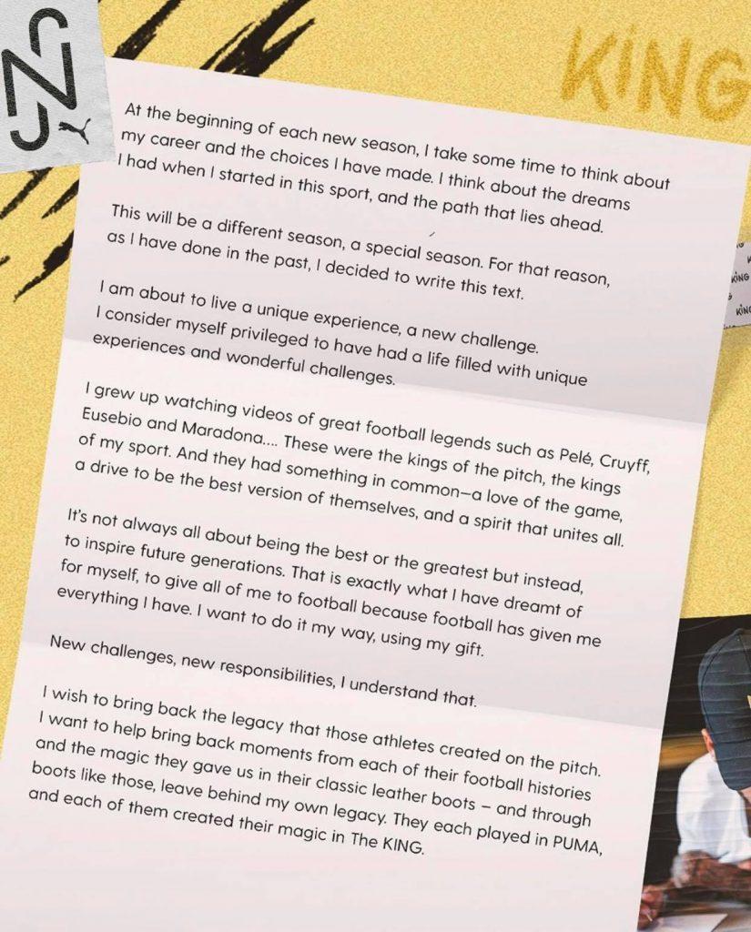 lettre neymar puma