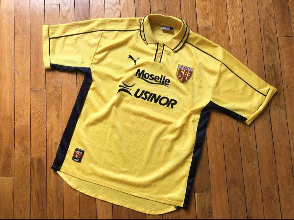 maillot jaune fc metz 1999-2000