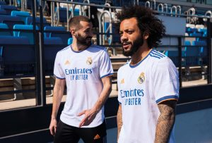 maillot domicile real madrid 2021 2022