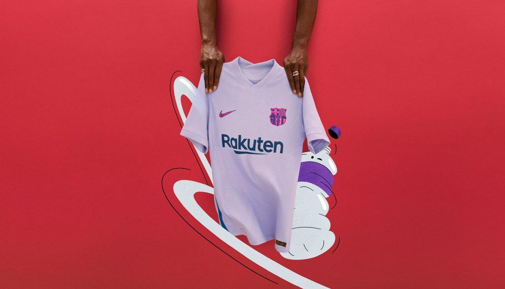 maillot extérieur barcelone 2021 2022